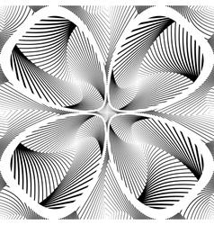 Design monochrome decorative twirl background vector image vector image