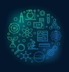education and science colored round vector image