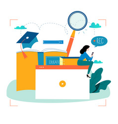 Education video tutorial webinar training cours vector