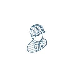 Engineer avatar architect in helmet isometric vector