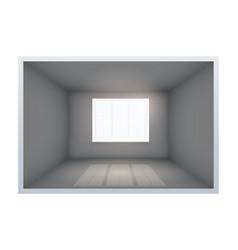 Example of empty dark room with window vector