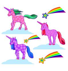 Fabulous fantastic animal unicorn vector