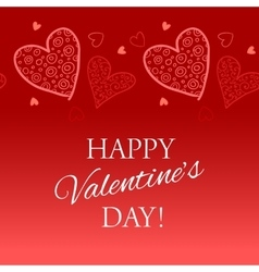 Happy valentine s day lettering greeting card vector