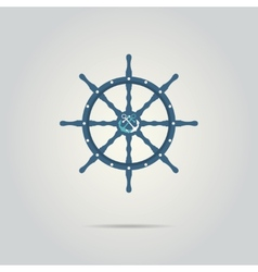 helm captain isolated icon vector image