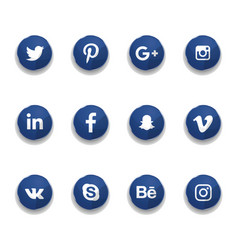 Icons for social networks vector