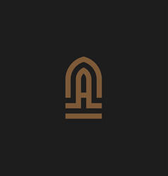 initial letter a na logo vector image