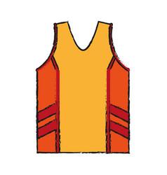 isolated basketball shirt design vector image
