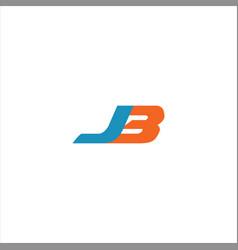 J b letter logo design on black color background vector