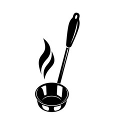 kitchen ladle soup smoke cook icon simple style vector image