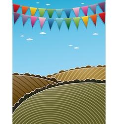 landscape decoration vector image