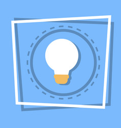 light bulb icon new idea web button vector image