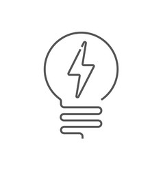 Light bulb line icon isolated on white vector