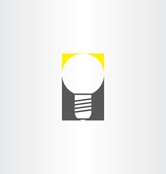 light bulb sign idea icon vector image