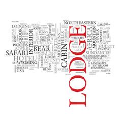 Lodge word cloud concept vector