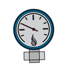 measuring gauge icon image vector image