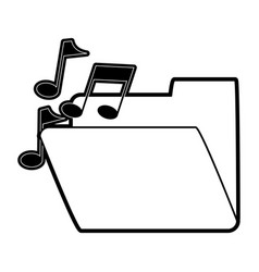 Music file folder icon image vector