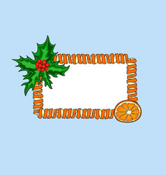 new year banner place for text in a frame of vector image