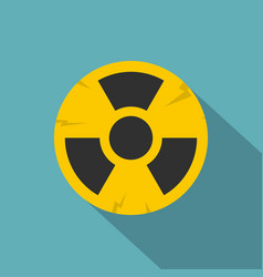 nuclear sign icon flat style vector image