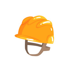 Orange safety hard hat cartoon vector
