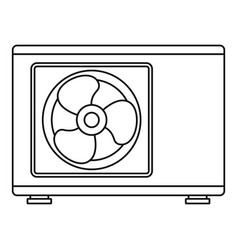 Outdoor conditioner fan icon outline style vector