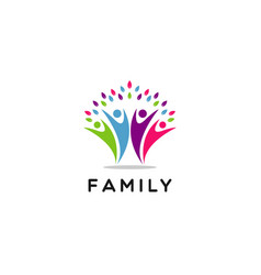 people family community symbol logo vector image