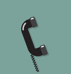 Phone in flat style vector