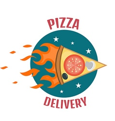 Pizza delivery logo Fast delivery logo one vector image