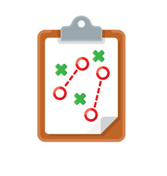 Plan tactic icon vector