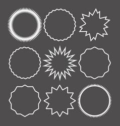 promo sale starburst marks or sticker label vector image
