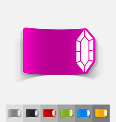 Realistic design element gem vector