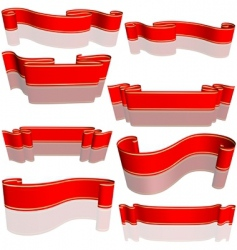 red banners vector image