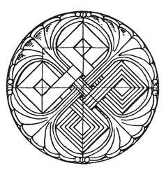 romanesque circular panel is found in basel vector image