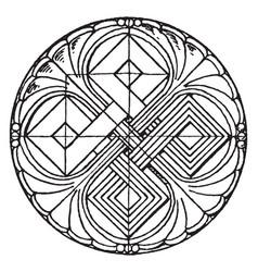 Romanesque circular panel is found in basel vector