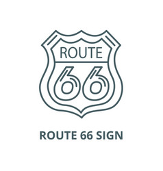 route 66 sign line icon linear concept vector image