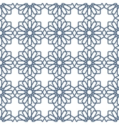 Seamless delicate pattern in arabian style vector