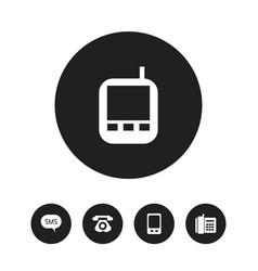set of 5 editable gadget icons includes symbols vector image