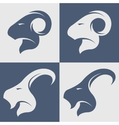 Sheep and goat symbol logo icon vector image