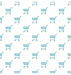 Shopping cart pattern cartoon style vector image