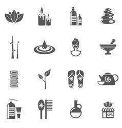 Spa And Relax Icons Set vector
