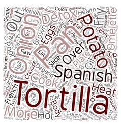 Spanish Tortilla text background wordcloud concept vector