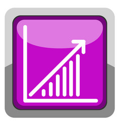 success business graph on a button vector image