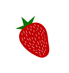 summer strawberry vector image