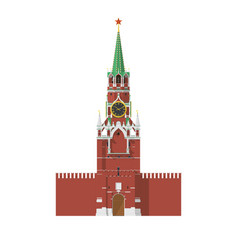 Tower moscow kremlin in russia vector