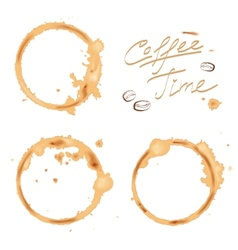 Traces coffee vector image