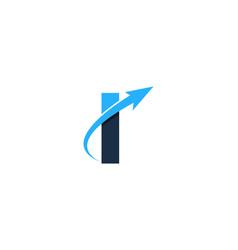 travel letter i logo icon design vector image