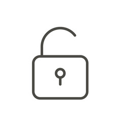 unlock icon line access symbol vector image