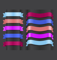 variety decorative ribbons set vector image