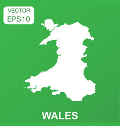 wales map icon business concept wales pictogram vector image