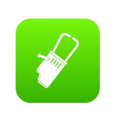 Welding equipment icon digital green vector