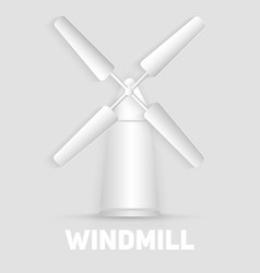 windmill symbol organic natural food sign paper vector image